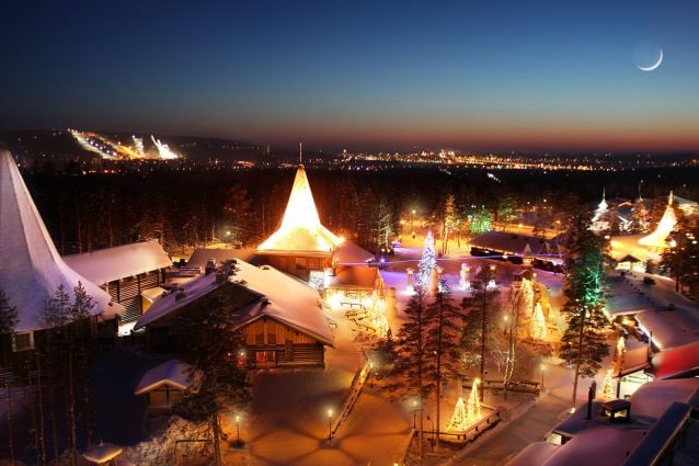 Rovaniemi Lapponia Babbo Natale.Rovaniemi Il Villaggio Ufficiale Di Babbo Natale