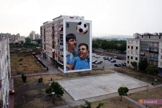 Napoli un parco di murales per riqualificare la periferia