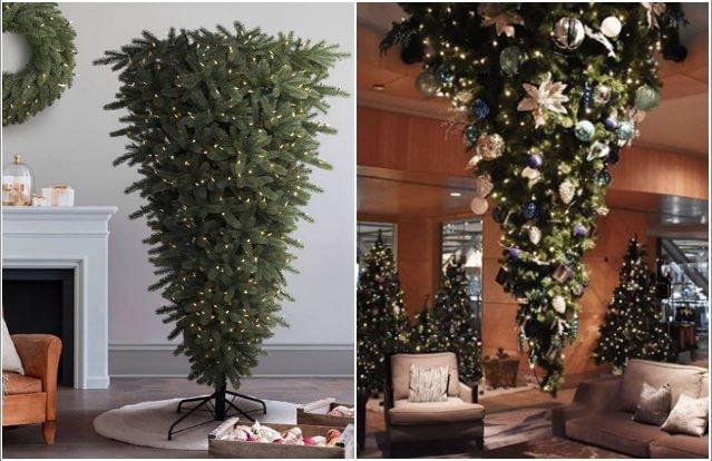 Albero Di Natale Capovolto.Alberi Di Natale Sottosopra L Ultima Tendenza Delle Festivita Natalizie