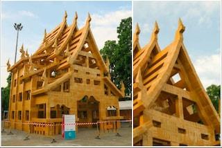 Thailandia, un tempio tutto di cartone per Chiang Mai