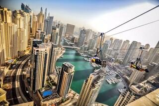 Dubai, apre la zipline urbana più lunga del mondo
