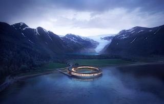 Svart, il primo hotel energetico al mondo sospeso su un fiordo norvegese