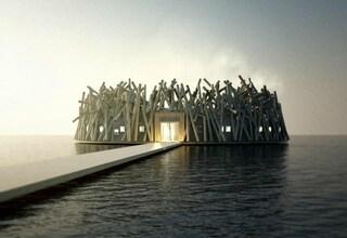 Arctic Bath Hotel, l'hotel galleggiante con vista mozzafiato sull'Aurora Boreale