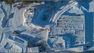 Benvenuti a Snowlandia, il più grande labirinto di neve del mondo