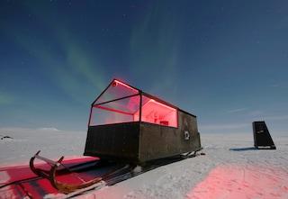 Hotel su slitta, il modo migliore per vedere l'Aurora Boreale