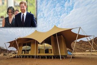 Luna di miele del Principe Harry e Meghan in glamping, il campeggio col comfort del resort