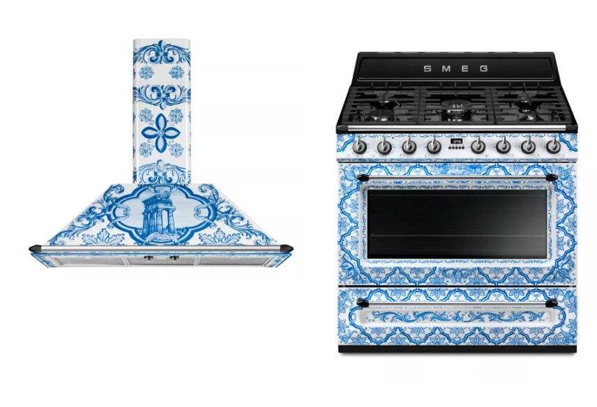 Dolce gabbana e smeg presentano la cucina mediterranea for Maioliche cucina