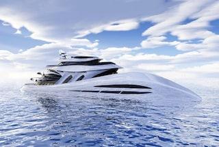 Elyon, il superyacht di lusso che sembra un'onda calma del mare