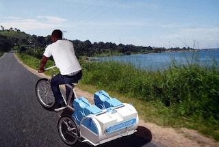Spincycle, bici e lavatrice due in uno: come lavare il bucato senza elettricità