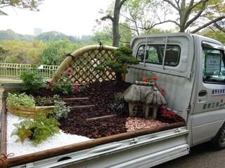 I furgoni del Giappone diventano giardini mobili