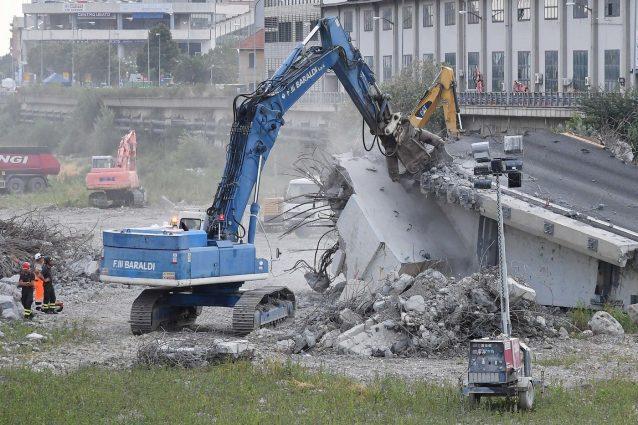 Il piano di demolizione del Ponte Morandi