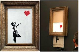 Banksy e il quadro distrutto: le migliori risposte creative all'opera dello street artist
