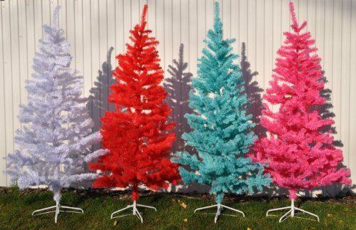 alberi di natali colorati