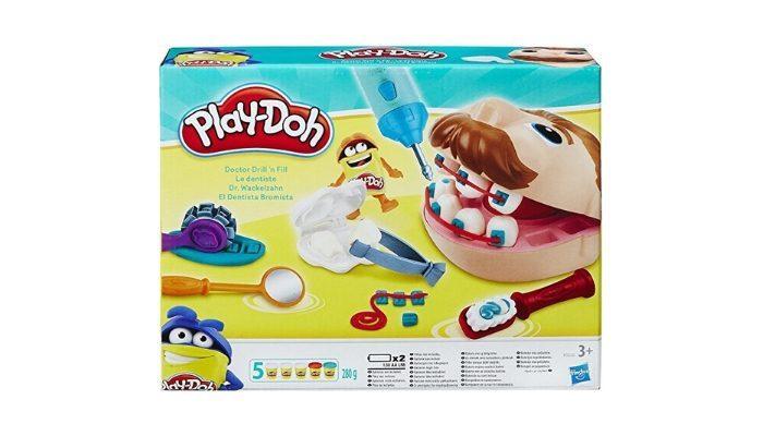 d0a444670f0176 Per stimolare la creatività del bambino, vi consigliamo il Dottor Trapanino  di Play-Doh, un kit con vasetti di pasta modellante per giocare al dentista.