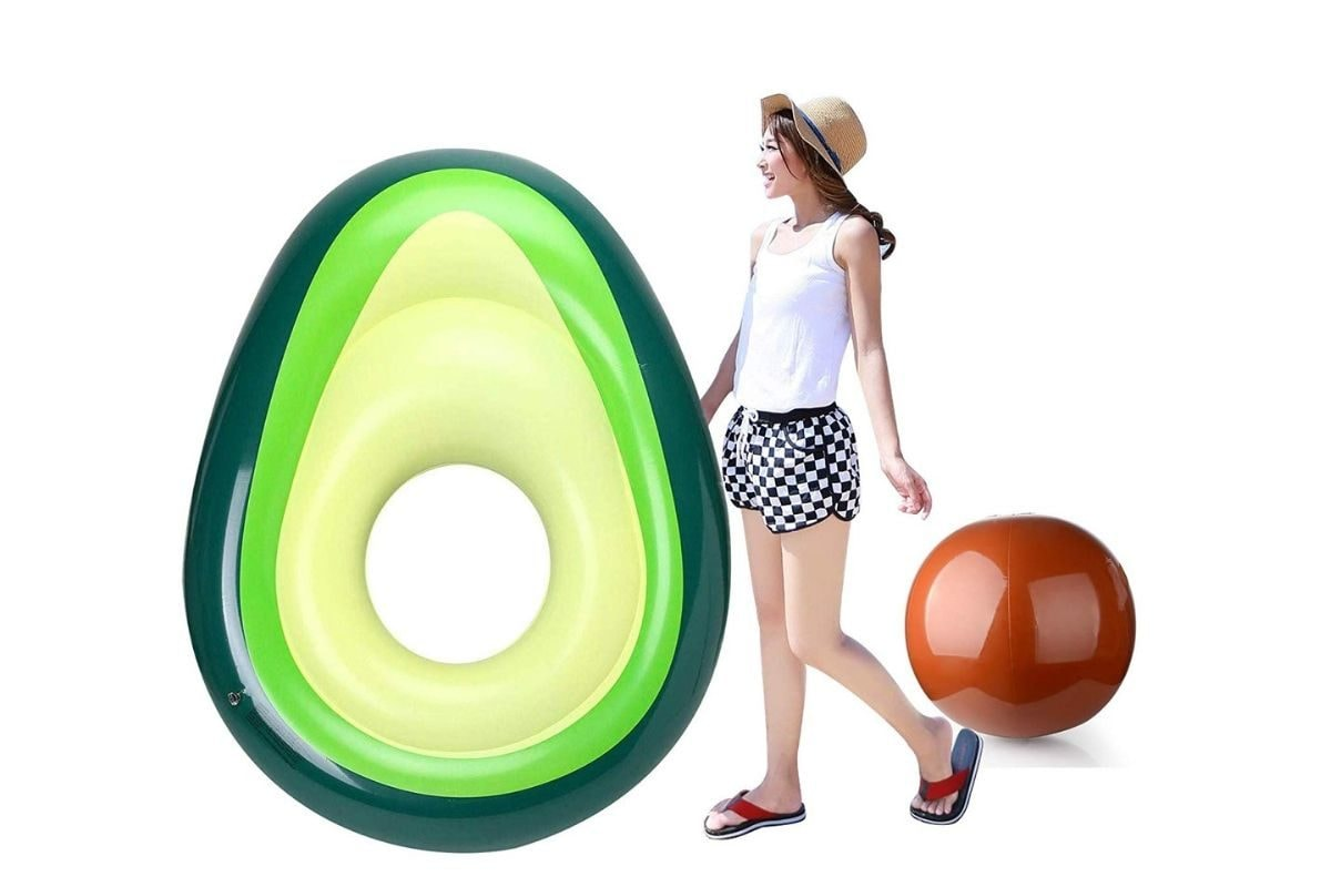 materassino gonfiabile da mare avocado