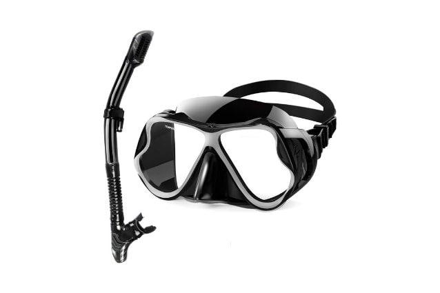 maschera con respiratore sub