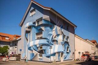 La street art di Peeta che trasforma i palazzi in illusioni ottiche