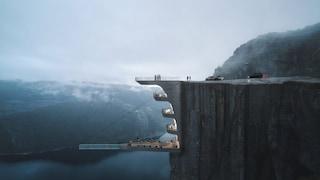 Norvegia, Hayri Aktak progetta un hotel boutique sospeso sulla scogliera