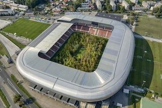 Lo stadio di calcio austriaco diventa una foresta nativa dell'Europa centra