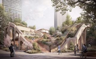A Tokyo si progettano edifici ondulati su cui si può camminare