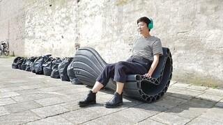 XXX, la prima panchina stampata in 3D usando la plastica riciclata