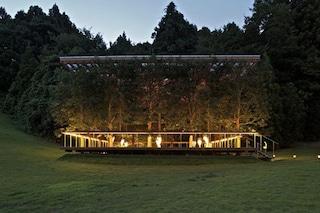 Maezawa garden house, la casa che scompare nel bosco