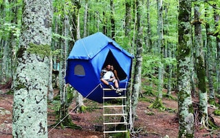 Atomo, il nuovo modo per dormire sugli alberi dei boschi pugliesi