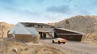 Cyberhouse, la casa pensata peril Tesla Cybertruck che resiste ad ogni minaccia nucleare