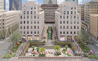 New York, la piazza del Rockefeller Center si trasforma