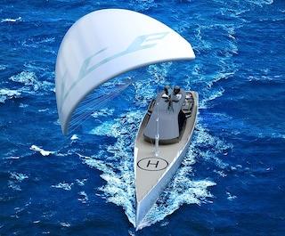 ICE Kite, il primo superyacht di lusso che sarà trainato da un kite