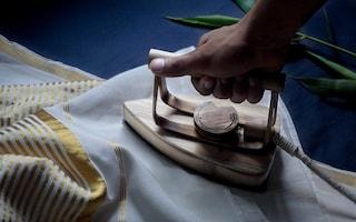 Il primo ferro da stiro di bambù