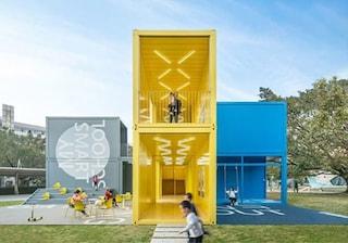 INFINITY 6, la scuola pop up di Shenzhen fatta da container