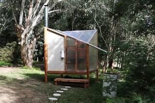 Una sauna per promuovere il benessere individuale nei boschi vicino a Melbourne