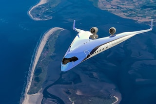 Flying-V jet, il primo aereo a forma di V al mondo che inquina di meno