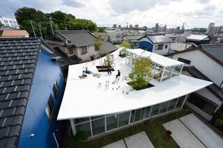 Studio Velocity crea l'ufficio con il tetto abitabile curvo