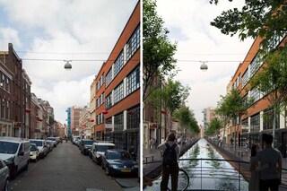 MVRDV trasforma le strade dell'Aia in canali d'acqua e parchi