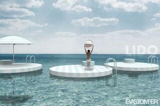 LIDO, le isole galleggianti per andare a mare rispettando il distanziamento sociale