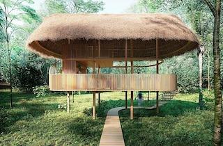 Capanna OCA, il rifugio a energia solare immerso nella riserva ambientale del Brasile