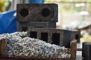 Silica-plastic block, il mattone fatto con sabbia riciclata e rifiuti di plastica