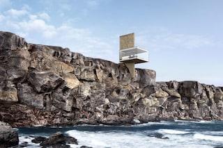 Air, la casa vacanze di vetro sospesa sul mare