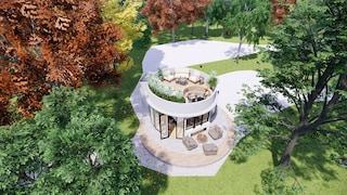 La cabina circolare per fare glamping nella natura