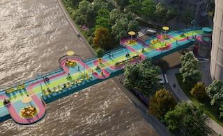 100 architetti per ripensare il ponte pedonale Puji Road a Shanghai