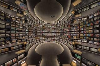 La Libreria Yangzhou Zhongshuge di Pechino, uno spazio lunare che incanta