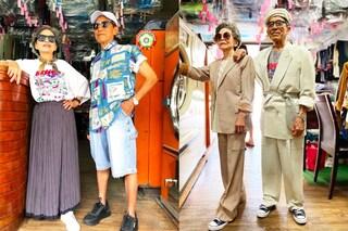 Una coppia di anziani posa coi vestiti lasciati nella loro lavanderia e diventa virale