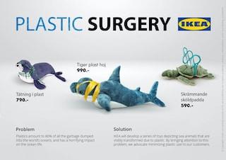 I peluche di IKEA diventano simboli della lotta all'inquinamento di plastica negli oceani