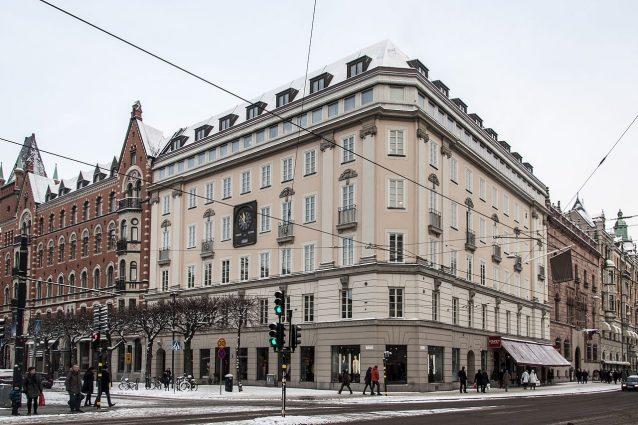 Il palazzo di piazza Norrmalm a Stoccolma in cui avvenne la rapina alla Sveriges Kreditbanken del 1973
