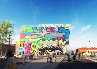 Glass Mural, l'edificio di Detroit che difende la street art