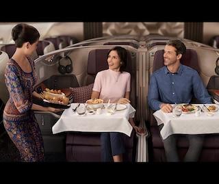 Gli Airbus A380 della Singapore Airlines diventano ristoranti pop up