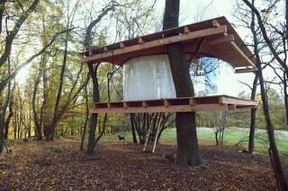 La casa sull'albero con vista a 360° sulla natura