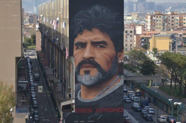 Diego Armando Maradona di Jorit, San Giovanni a Teduccio, Napoli
